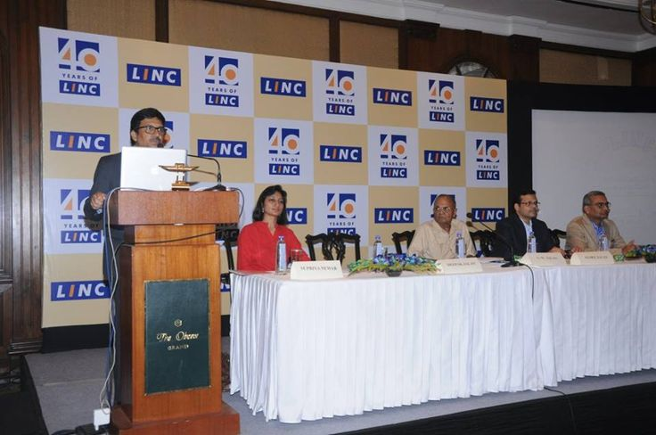 The conference has just begun - Mr Deepak Jalan, MD, Linc Pens speaking at the event.