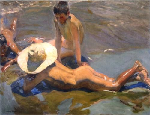 Niños en la playa - Joaquin Sorolla