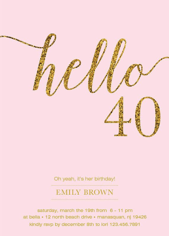 best 25+ 40th birthday ideas on pinterest | 40 birthday, 40th, Birthday invitations