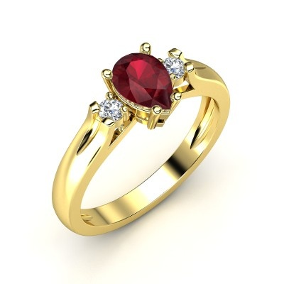 The Alyssa Ring #customizable #jewelry #ruby #diamond #gold #ring