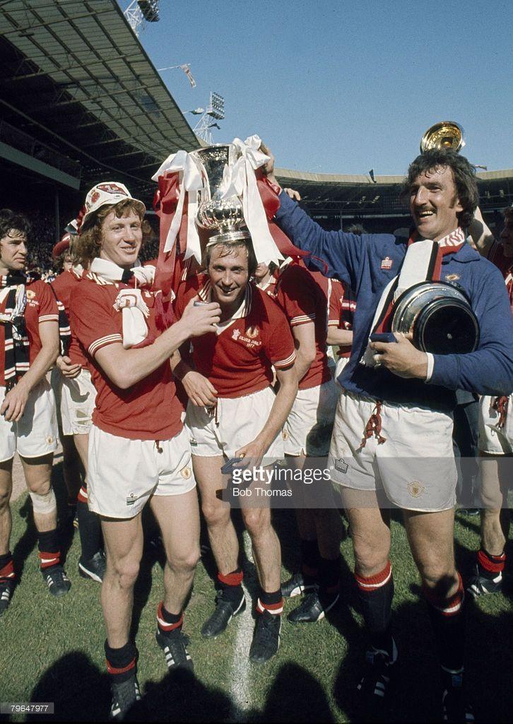 1977 FA Cup Final at Wembley Manchester United 2 v Liverpool 1... Foto di attualità | Getty Images