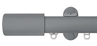 Renaissance 28mm Distinction Metal Curtain Pole, Dove Grey, Barrel
