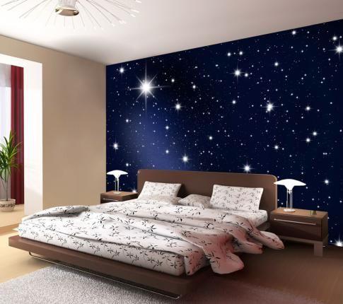 Maak van uw woonkamer slaapkamer gang kantoor of etalage een sterrenhemel dit foto - Behang ingang gang ...