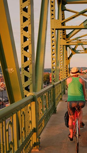Liberty Bridge - If you can make it up to Grandview Overlook Park by bike, make sure to come down via PJ McArdle roadway and bridge.