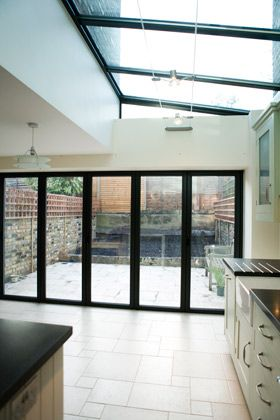 Bifold doors + roof - panelled