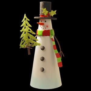 National Tree Company 12 in. Metal Snowman Character-MZC-975 - The Home Depot