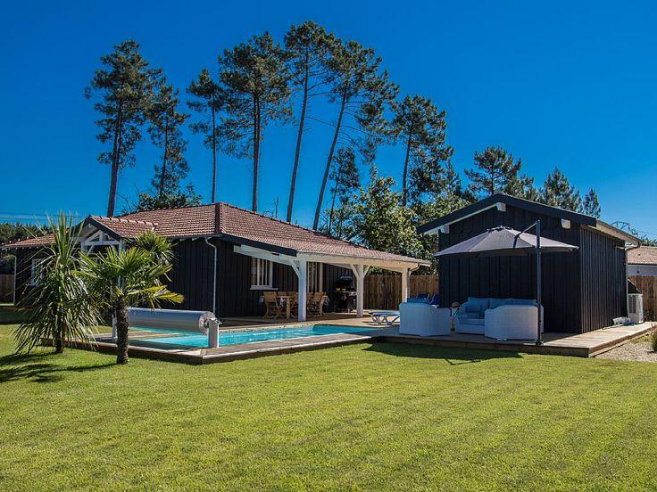 villa sans vis a vis piscine chauffee volet roulant spa terrasse de 170 metres - Bassin d'Arcachon   Abritel