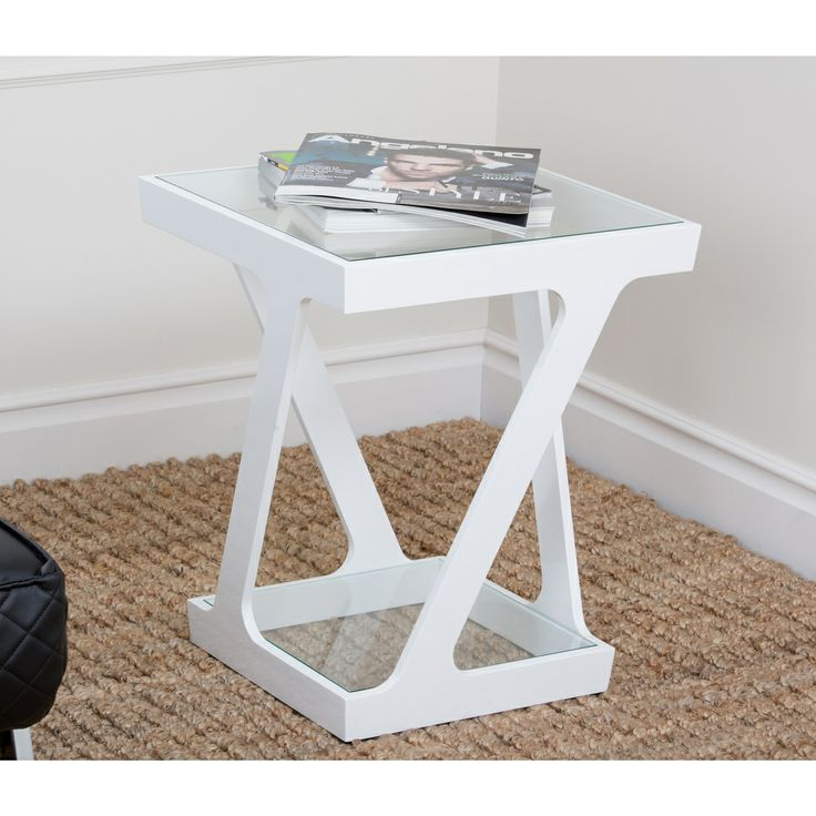 Abbyson Living Zen Glass End Table   Overstock.com Shopping - Great Deals on Abbyson Living Coffee, Sofa & End Tables $176.99