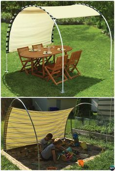DIY PVC Canopy Shade -20 PVC Pipe DIY Projects For Kids #Crafts mehr zum Selber