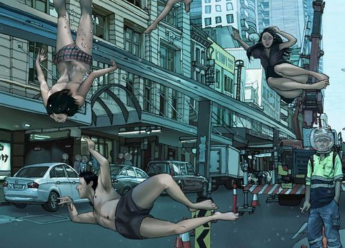 Bathers Friday in the CBD - Sydney (Signed Limited Edition of 1400) by Kozyndan