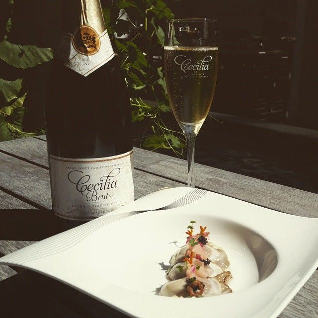 Bluff Oysters + Cecilia Methode Traditionnelle = delicious!!!! #bluffoysters #methodemarlborough #nzwine