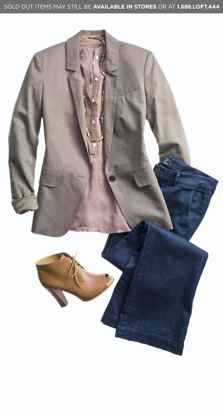 Outfit Ensemble by Ann Taylor Loft.