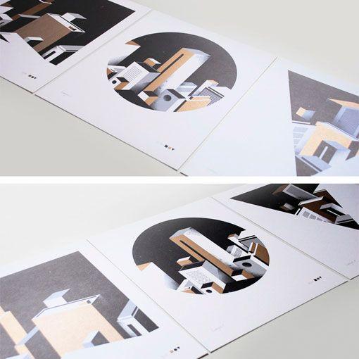 Borja Bonaque: Square, Circle, Triangle Prints