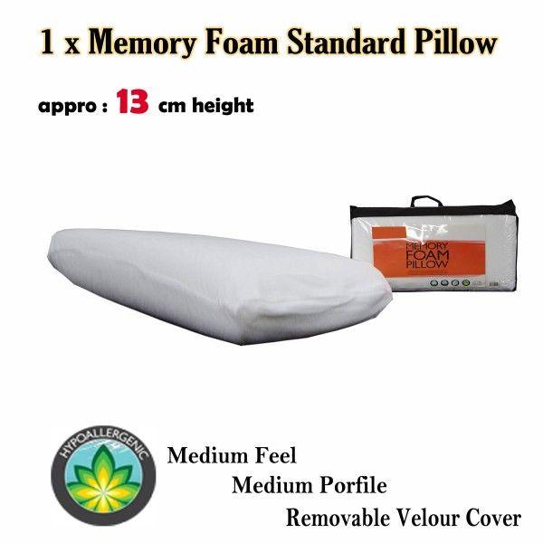 Memory Foam Pillow Medium Feel is made