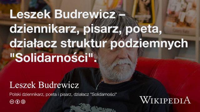 """""""Leszek Budrewicz"""" på @Wikipedia:"""