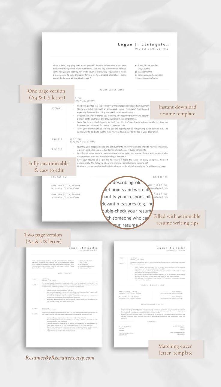 Elegant and modern cv design minimalist resume template