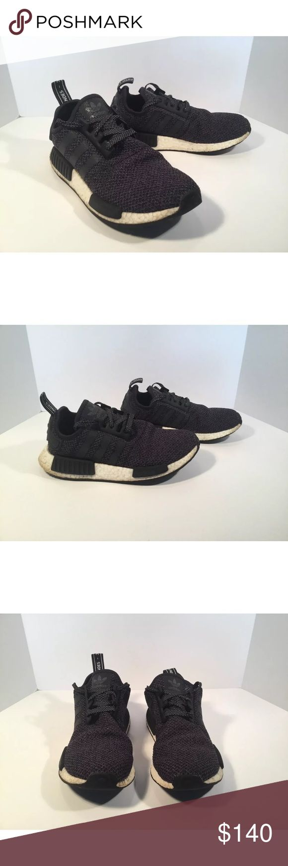 Adidas NMD R1 reflective Item details:   -adidas brand  -in used condition, please refer to pictures  -Men's Size 7  -Rare colorway  -Reflective 3m  -Grey, White and black  -boost technology  -I ship next day  -Nmd R1   Please let me know if you have any questions. adidas Shoes Sneakers