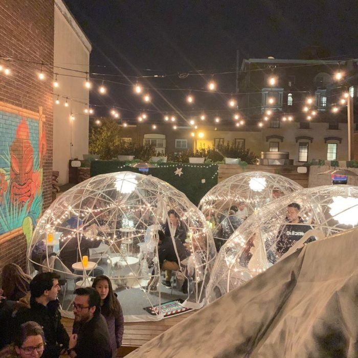 Stay Warm And Cozy This Season At Elm City Social A Rooftop Igloo Bar In Connecticut Elm City Visit Connecticut Cancun Mexico Travel