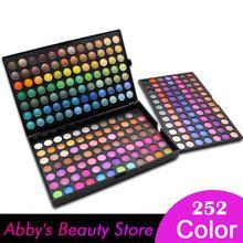 252 kleuren oogschaduw palet make-up oogschaduw make-up palet kit maquillaje 3 lagen matte oogschaduw palet shimmer(China (Mainland))