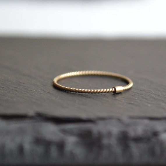 United - 14k Solid Gold twisted band - stacking gold ring, minimalist wedding band
