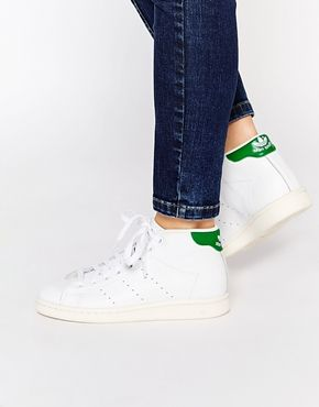 chaussure stan smith mid,stan smith mid cuir blanc vert