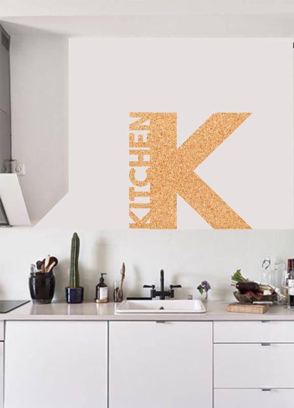 Muursticker kurk / prikbord Kitchen
