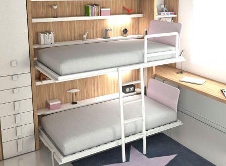 Dormitorios juveniles, abatibles, literas y armarios - Tetris