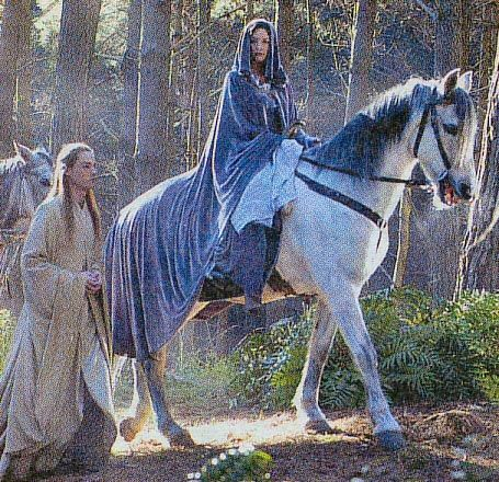 Arwen on her way to the Grey Havens
