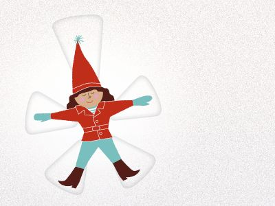 Snow angel - ecard inspiration