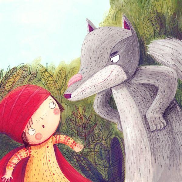 Little Red Riding Hood on Illustration Served