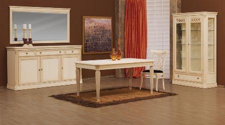 Casa Ampia-τραπεζαρία Λυδία-τραπέζι-καρέκλα-μπουφές-βιτρίνα-dining table-patina-έπιπλα-διακόσμηση σπιτιού-ιδέες και λύσεις