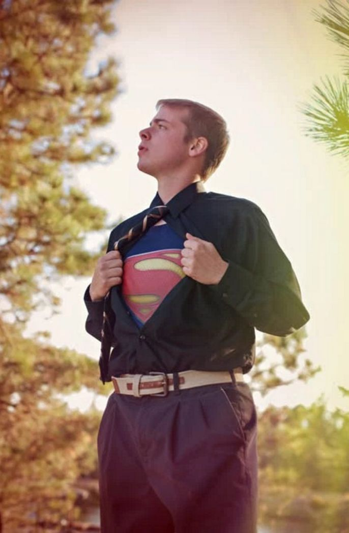 Senior picture ideas. Love this superman picture for my son's senior photo.