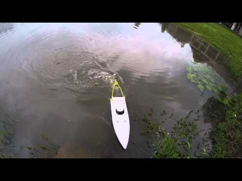 RC Boat Fishing for Bass - YouTube