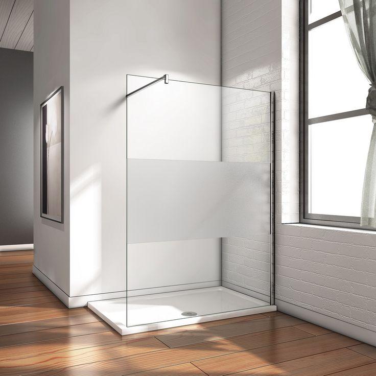 Walk in Dusche Duschwand Duschabtrennung Echtglas 8mm NANO Glas [W12E-20-SA+B-358 Stabi+900] - €209.99 - Aica Sanitär GmbH - Duschkabine Duschabtrennung