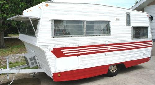 1969 Aristocrat Lo-Liner Travel Trailer Camper Vintage Remodeled Coca Cola Theme