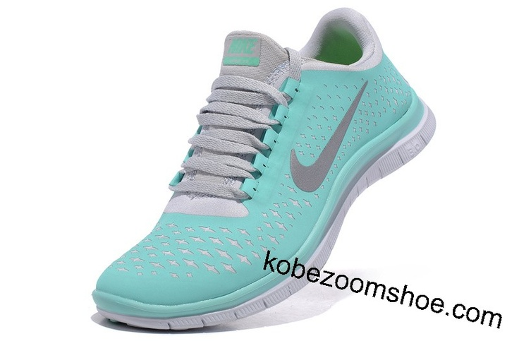 Tiffany Blue Nike Free 3.0 V4 Womens Blue White Silver Sneakers