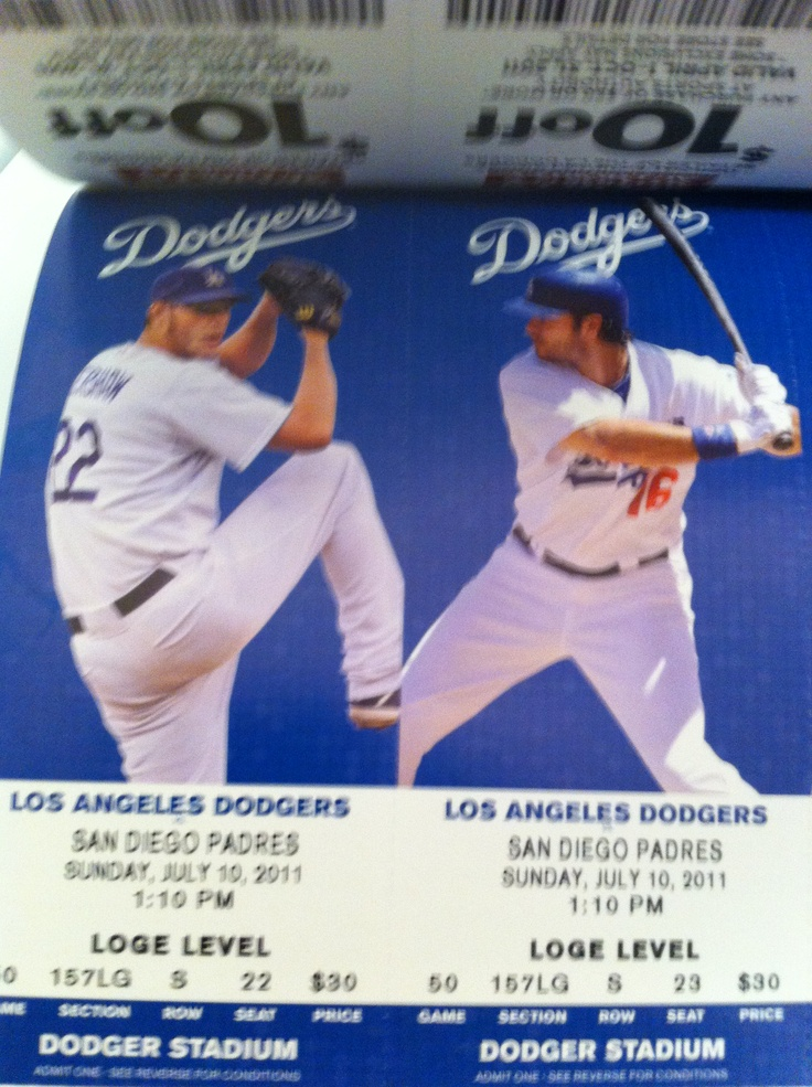 Los Angeles Dodgers - 2011 Season Tickets Lotto purchase #1!!!