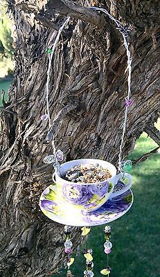 handmade teacup bird feeder    #garden #ad #ebay