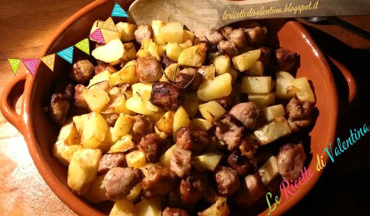 Le Ricette di Valentina: Salsiccia di pollo e tacchino con patate senza grassi aggiunti, nella friggitrice ad aria