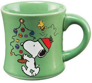 Treasures By Brenda Christmas Coffee Mugs Cups From The Movies Peanuts Snoopy Woodstock And Tree