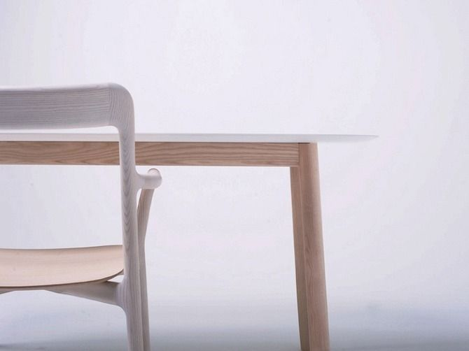 """Branca Chair and Table by Industrial Facility: """"Branca Chair: In 1978 the Italian brothers Nevio and Fabiano Mattiazzi started an obsession with wood production."""""""