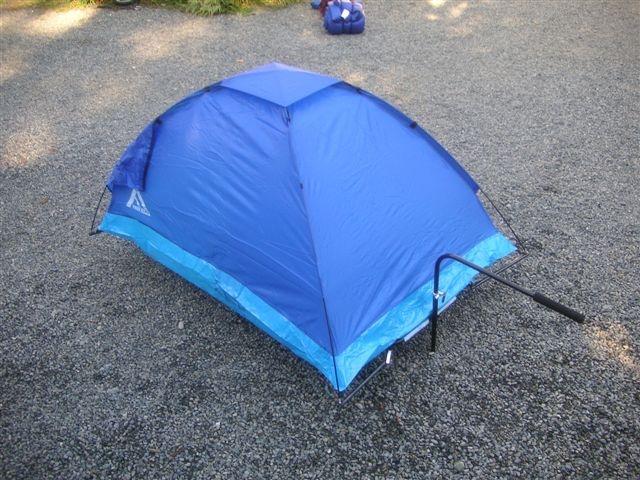 Mobile tent trailer.