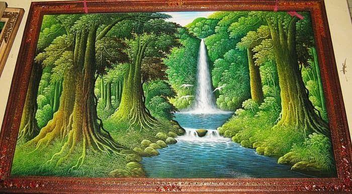 10 Lukisan Pemandangan Dengan Pensil Warna 4000 Gambar Air Terjun Dengan Pensi Trends In 2020 Painting Waterfall Art