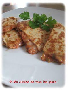 Ma cuisine de tous les jours: Quesadillas aux lentilles (faciles et rapides!)