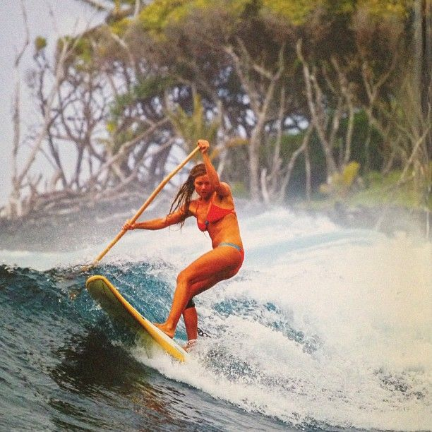 SUP surf! SwellWomen is one of the only women's surf camps in the world that also offers SUP lessons to guests.