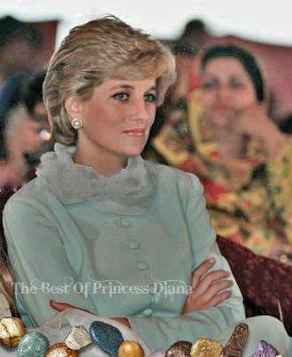June 22, 1996:  Princess Diana at the Shaukat Khanum Memorial Hospital, Lahore, Pakistan.