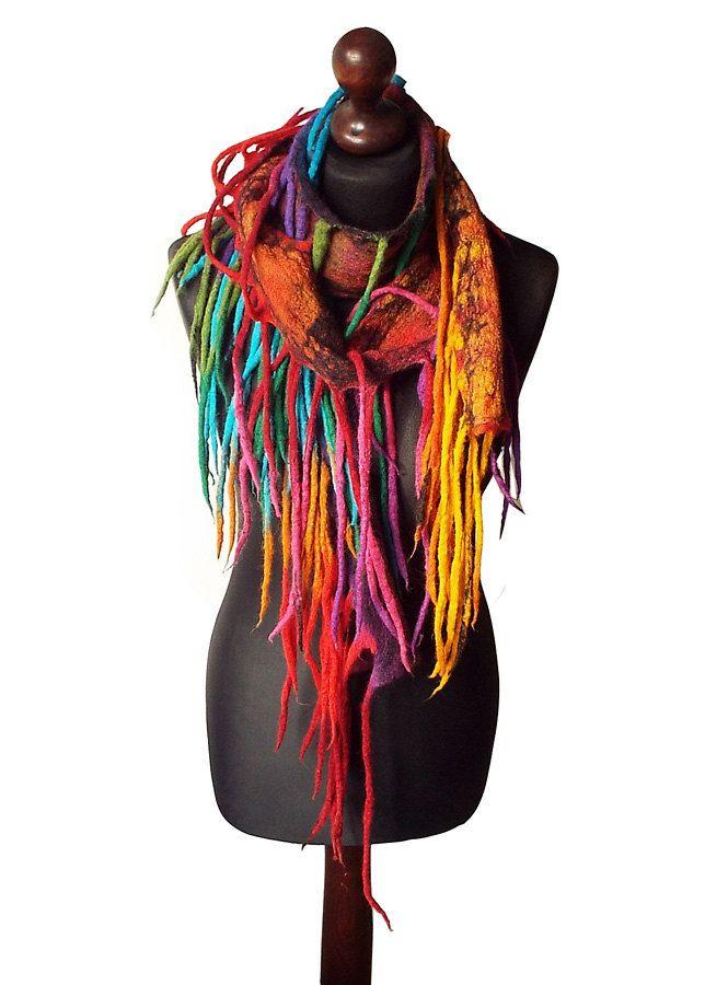 Oversized Merino Wool Scarf - PEACOCK BEAUTY by VIDA VIDA okRNl