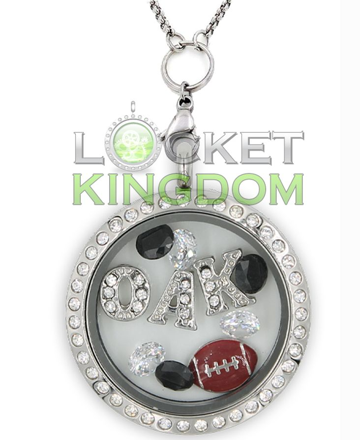 Infinity Love Oakland Football Charm Locket