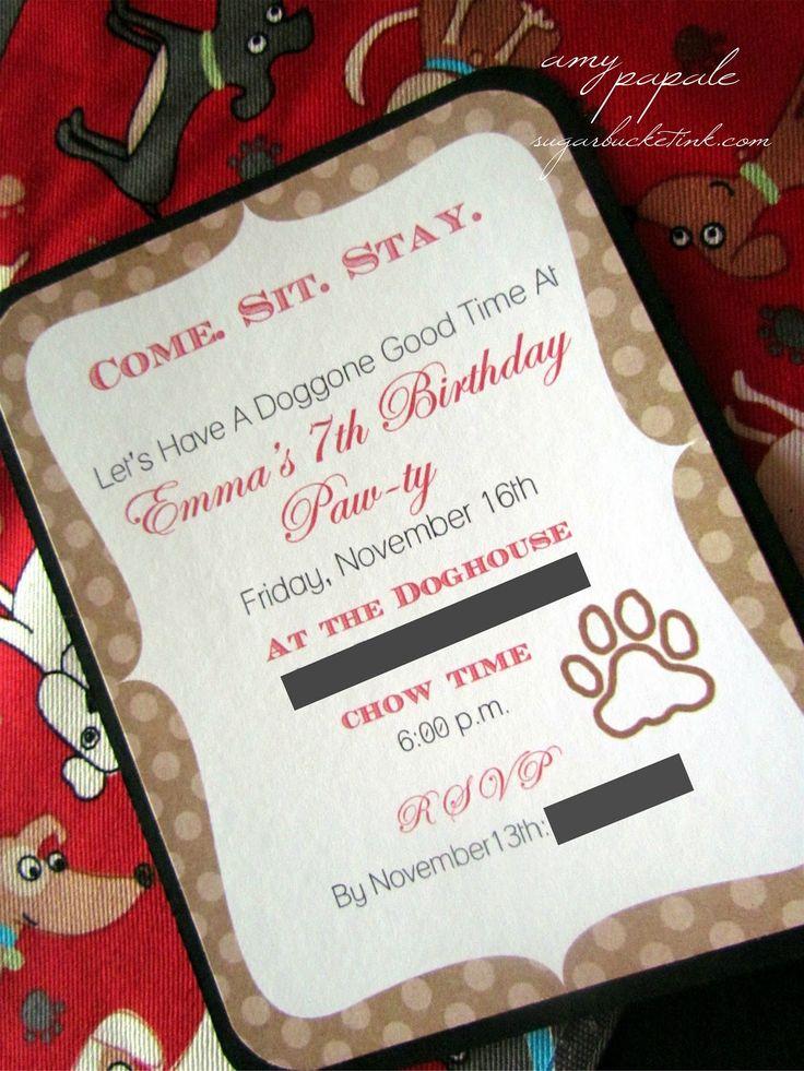 Best 25 Dog birthday parties ideas – Dog Themed Birthday Party Invitations