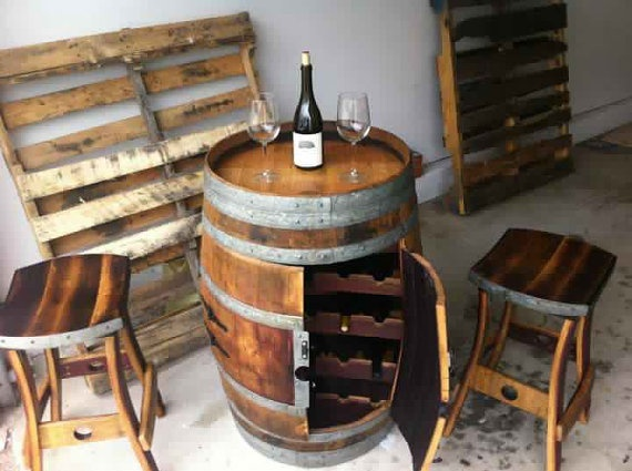 Wine Barrel Wine Rack   Very Cool! But Every Expensive! There Has To Be A  Site That Has The DIY Barrel Wine Rack!